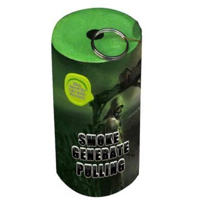 DYM ZIELONY Z ZAWLECZKĄ TXF930 - generator dymu, granat dymny. Świece dymne