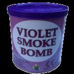 Świeca dymna fioletowa w puszce - generator dymu, granat dymny. Świece dymne