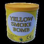 Świeca dymna żółta w puszce - generator dymu, granat dymny. Świece dymne